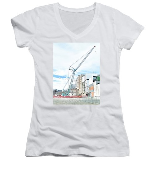 On Tiptoes Women's V-Neck T-Shirt