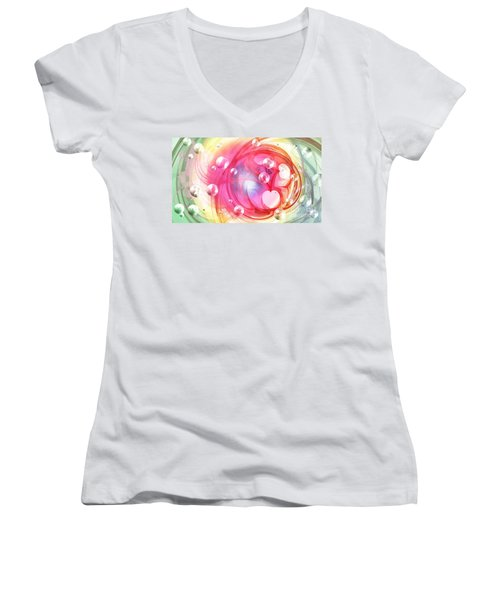 One Love... One Heart... One Life Women's V-Neck T-Shirt