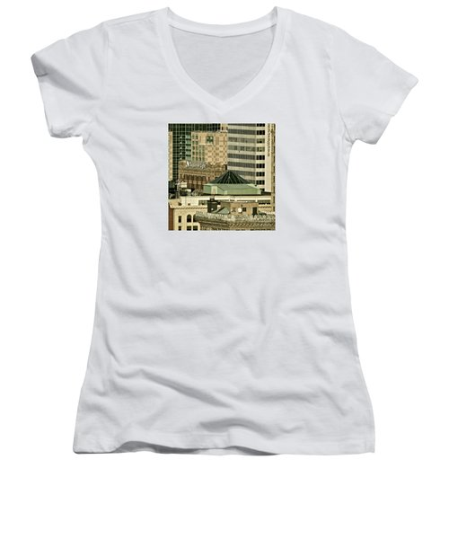 One On Top Of The Other Women's V-Neck T-Shirt