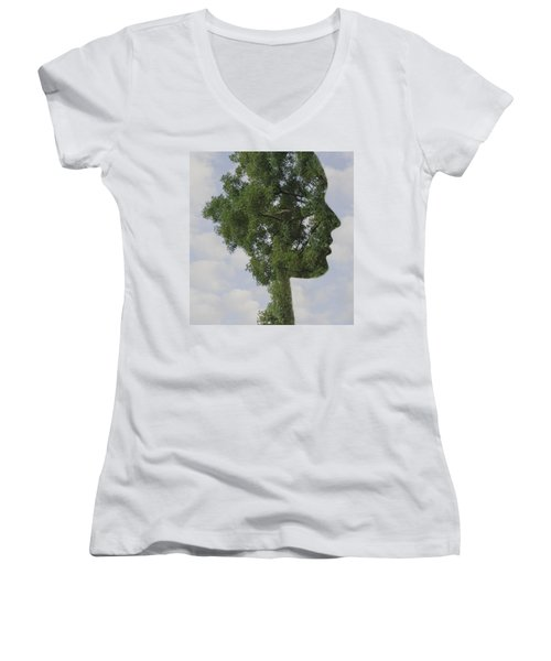 One With Nature Women's V-Neck