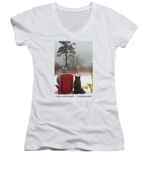 Only In Canada Women's V-Neck (Athletic Fit)