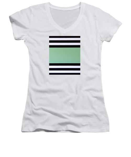 Women's V-Neck T-Shirt (Junior Cut) featuring the painting Opportunity by Thomas Gronowski