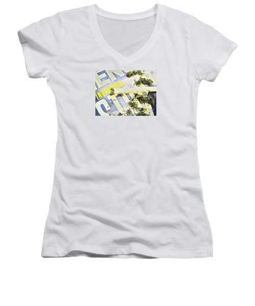 Women's V-Neck T-Shirt (Junior Cut) featuring the photograph Or So I Thought by John King