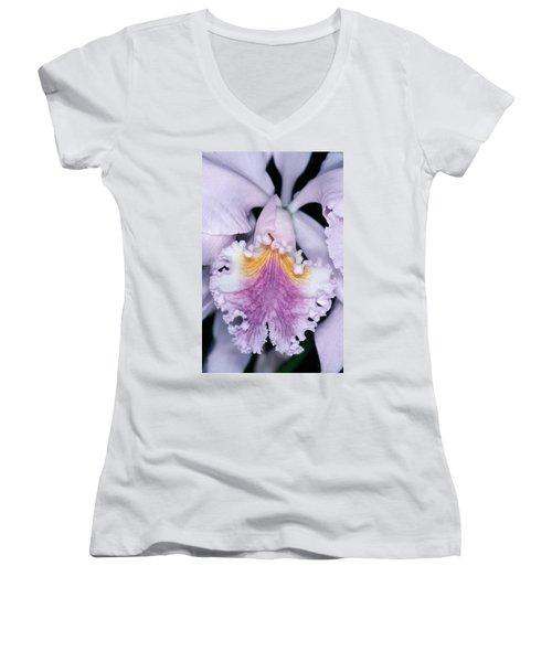 Orchid 2 Women's V-Neck T-Shirt (Junior Cut)