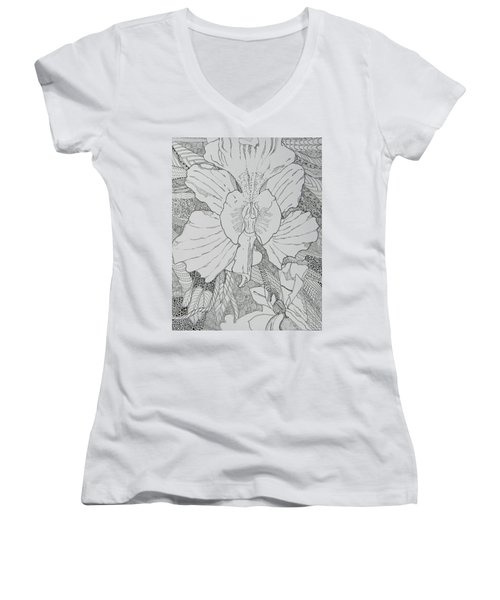 Orchid In Disguise Women's V-Neck