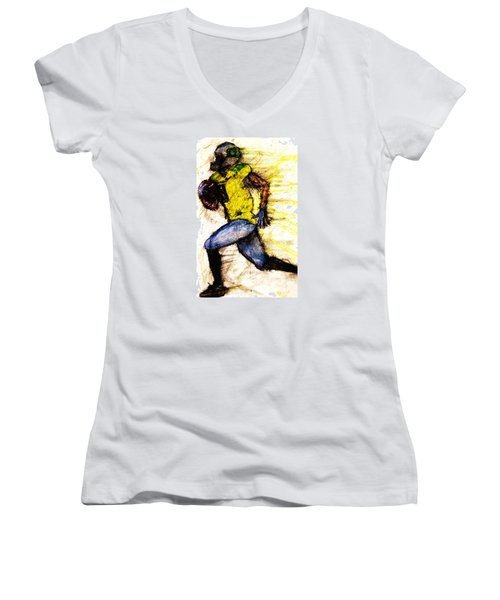 Oregon Football 2 Women's V-Neck (Athletic Fit)