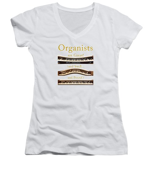 Organists Are Great 2 Women's V-Neck (Athletic Fit)