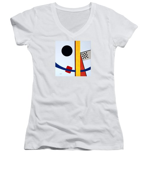 Women's V-Neck T-Shirt (Junior Cut) featuring the painting Orion's Belt by Thomas Gronowski