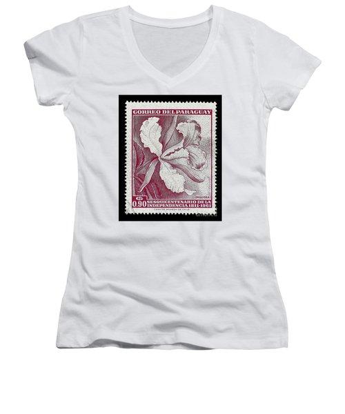 Orquidea Women's V-Neck T-Shirt (Junior Cut) by Andy Prendy