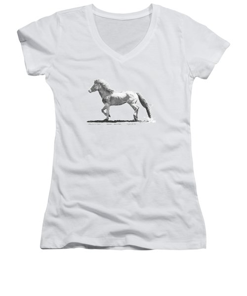 Women's V-Neck T-Shirt (Junior Cut) featuring the drawing Oshunnah Stepping Out For Freedom by Marianne NANA Betts