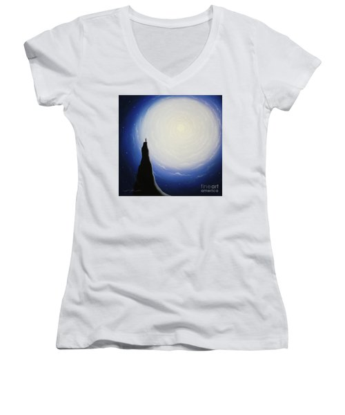 Somewhere Out In Space Women's V-Neck