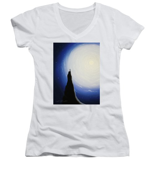 Somewhere Out In Space Women's V-Neck (Athletic Fit)