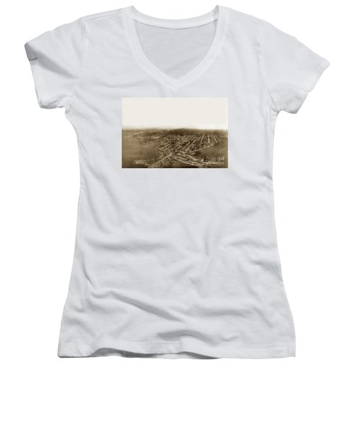 Pacific Grove 1200 From Feet Above Lovers Point And Monterey Bay 1906 Women's V-Neck