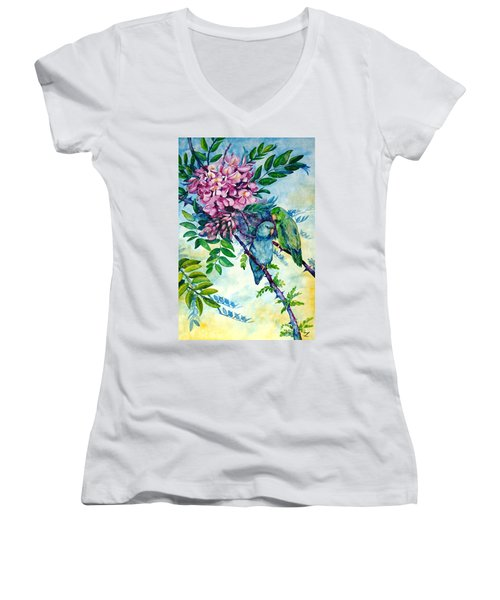 Pacific Parrotlets Women's V-Neck T-Shirt