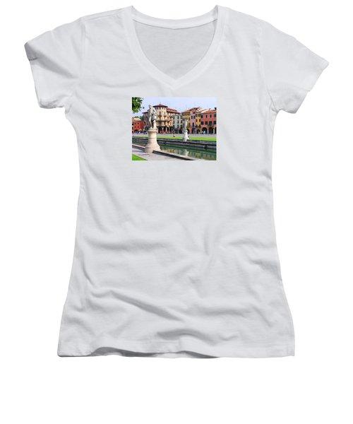 Padova Women's V-Neck T-Shirt (Junior Cut) by Oleg Zavarzin