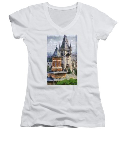 Palace Of Culture Women's V-Neck
