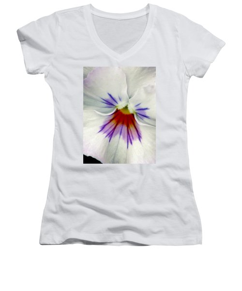 Pansy Flower 11 Women's V-Neck T-Shirt