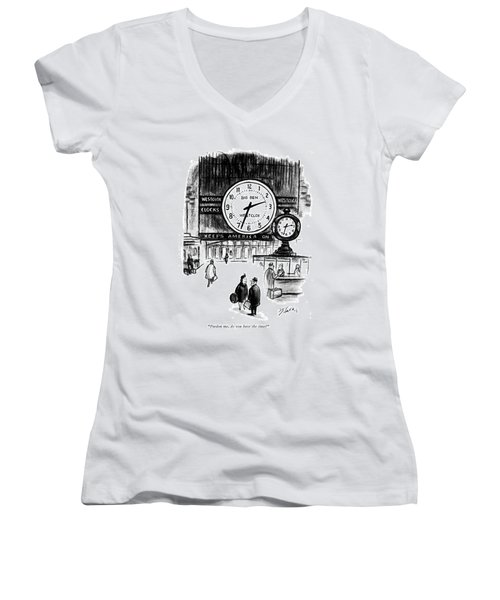 Pardon Me, Do You Have The Time? Women's V-Neck