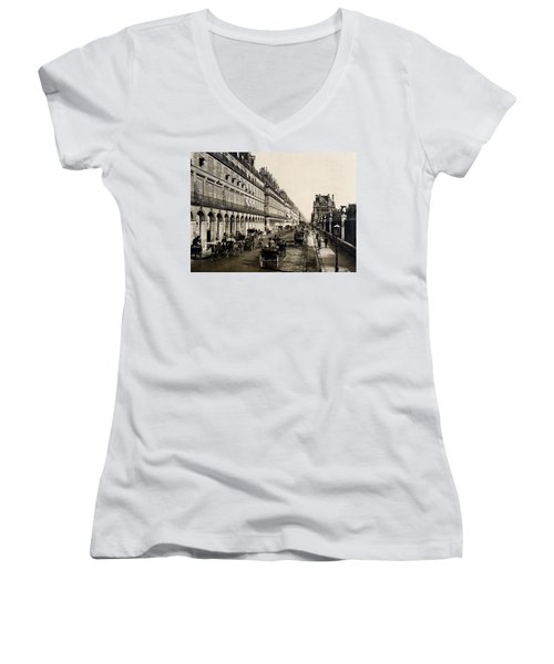 Paris 1900 Rue De Rivoli Women's V-Neck (Athletic Fit)
