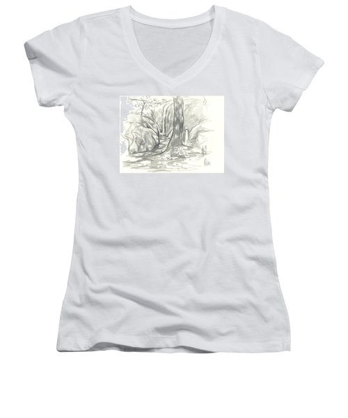 Passageway At Elephant Rocks Women's V-Neck