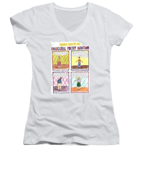 Passed Over At The Inaugural Poetry Audition Women's V-Neck