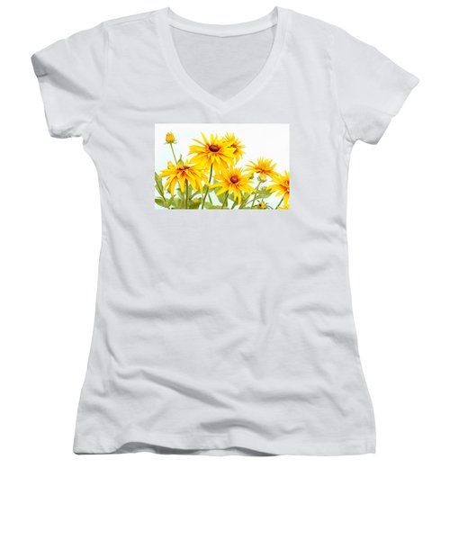 Patch Of Black-eyed Susan Women's V-Neck (Athletic Fit)
