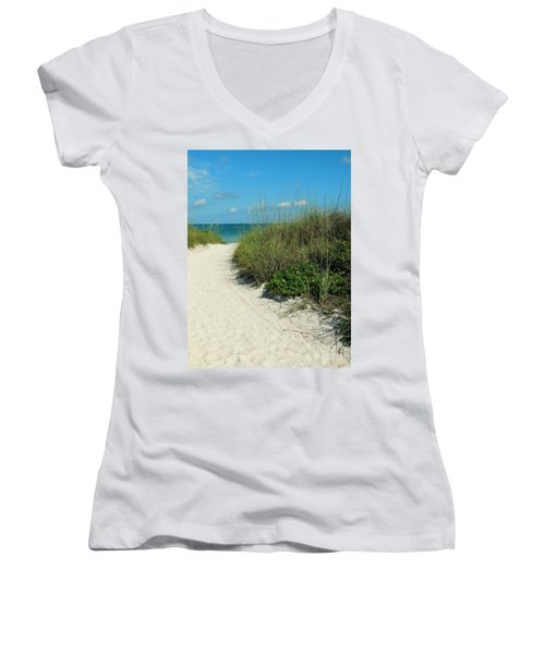 Path To Pass -a- Grille Women's V-Neck T-Shirt