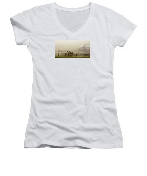 Patiently Waiting Women's V-Neck (Athletic Fit)