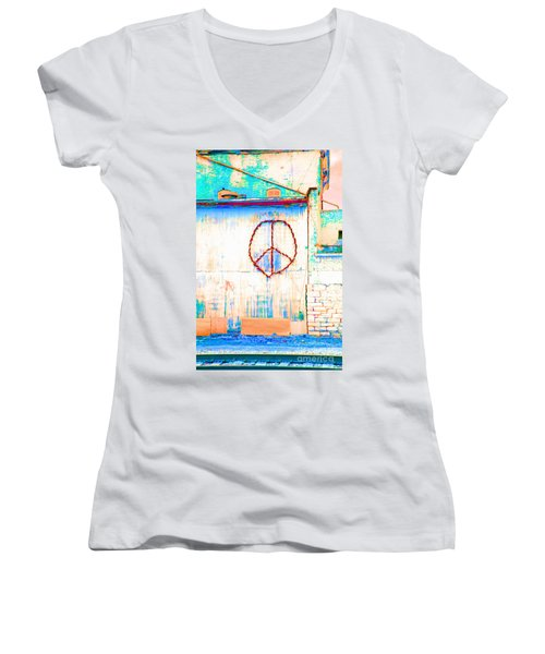 Peace 1 Women's V-Neck T-Shirt