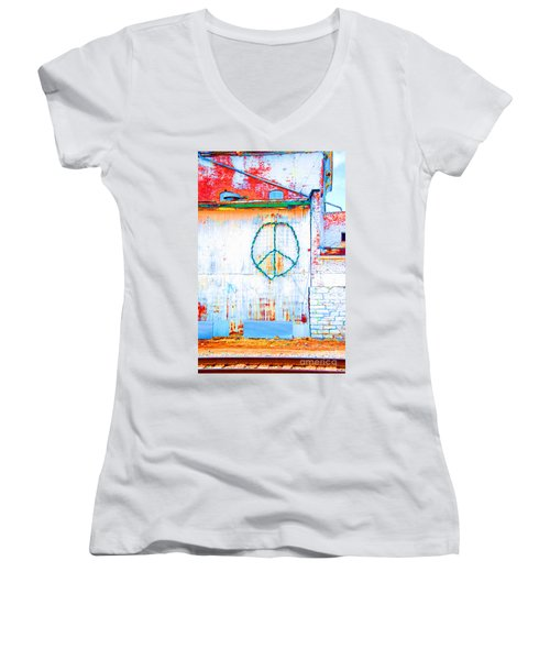 Peace 3 Women's V-Neck T-Shirt