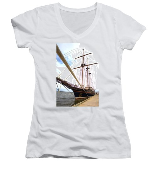 Women's V-Neck T-Shirt (Junior Cut) featuring the photograph Peacemaker by Gordon Elwell