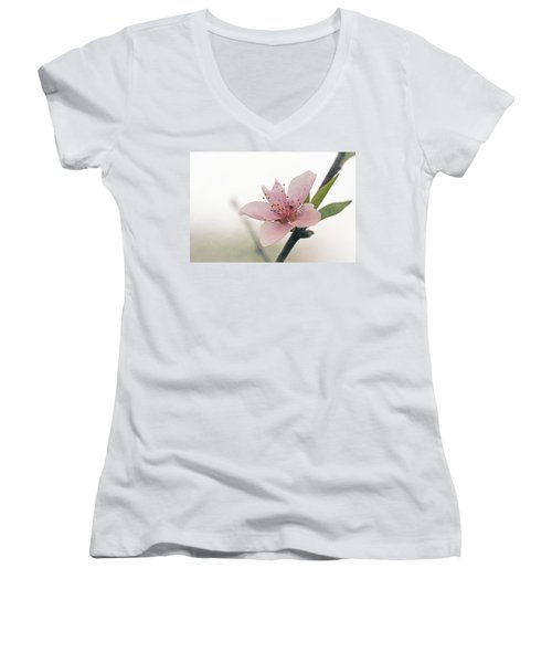 Peach Blossom Women's V-Neck (Athletic Fit)