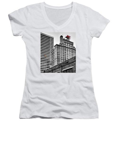 Pegasus Women's V-Neck T-Shirt