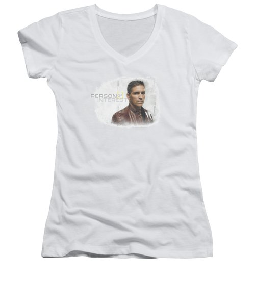 Person Of Interest - Cloud Women's V-Neck (Athletic Fit)