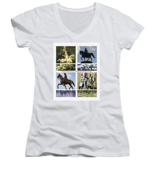 Philadelphia Museum Of Art Women's V-Neck T-Shirt