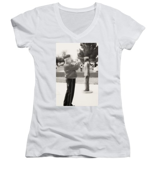 Photographing Ira Hayes Women's V-Neck (Athletic Fit)
