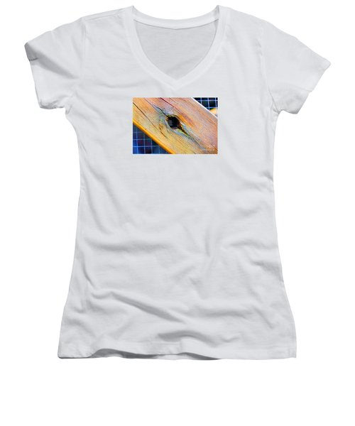 Women's V-Neck T-Shirt (Junior Cut) featuring the photograph Pine by Cassandra Buckley