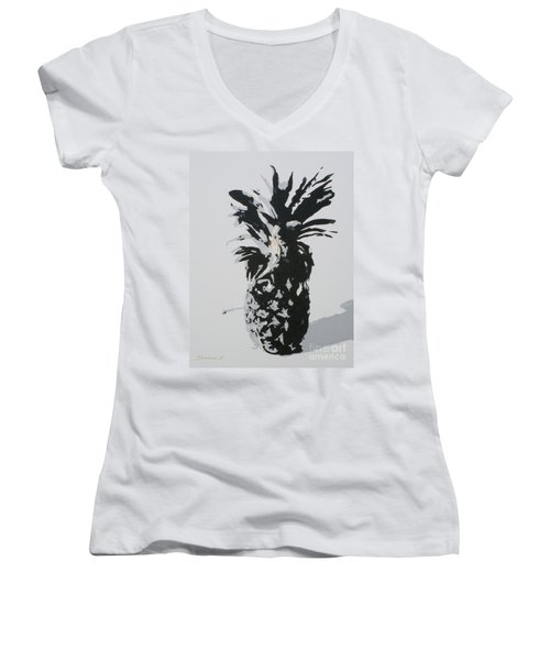 Pineapple Women's V-Neck (Athletic Fit)