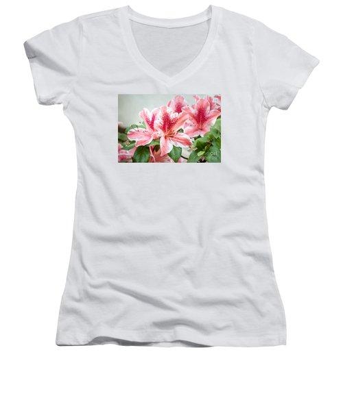 Pink Azaleas Women's V-Neck