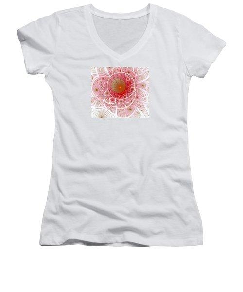Pink Punk Women's V-Neck T-Shirt (Junior Cut) by Shari Nees