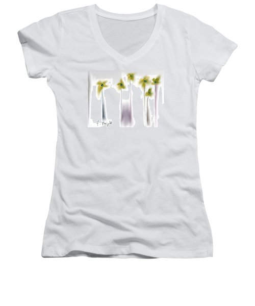 Women's V-Neck T-Shirt (Junior Cut) featuring the photograph Pinned by Frank Bright