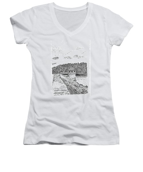 Pittsburg Dam Women's V-Neck T-Shirt