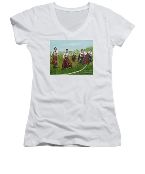 Play Of Yesterday Women's V-Neck T-Shirt