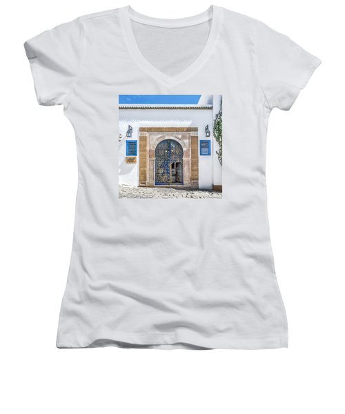 Please Come In Women's V-Neck (Athletic Fit)