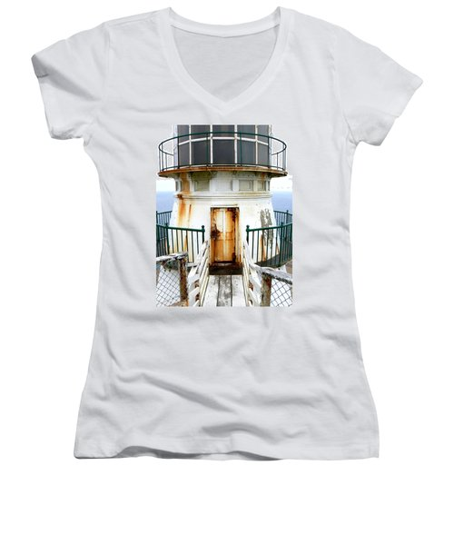 Point Reyes Historic Lighthouse Women's V-Neck T-Shirt