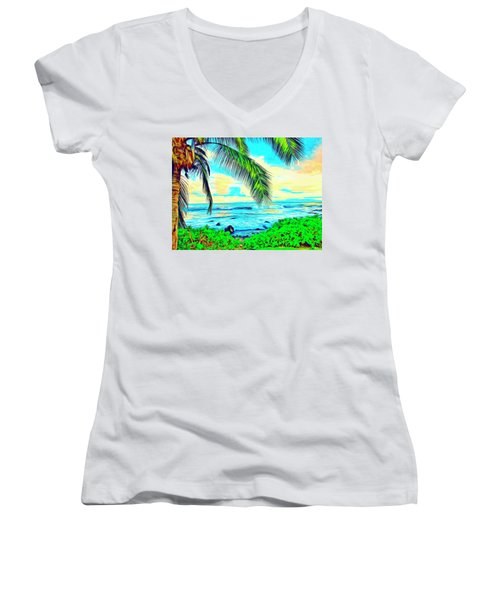 Poipu Sunrise Women's V-Neck