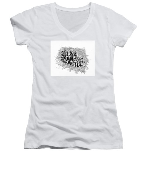 Ponderosa Pine Cone Women's V-Neck (Athletic Fit)