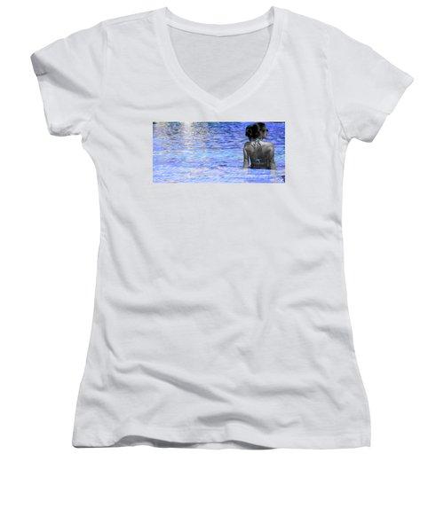 Pool Women's V-Neck T-Shirt