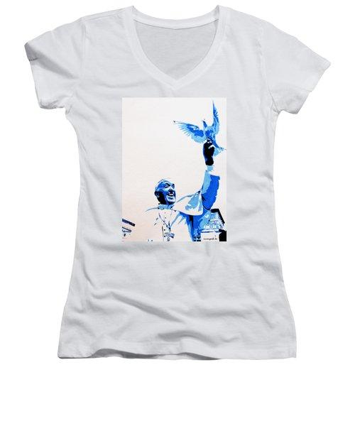 Pope Francis Women's V-Neck T-Shirt