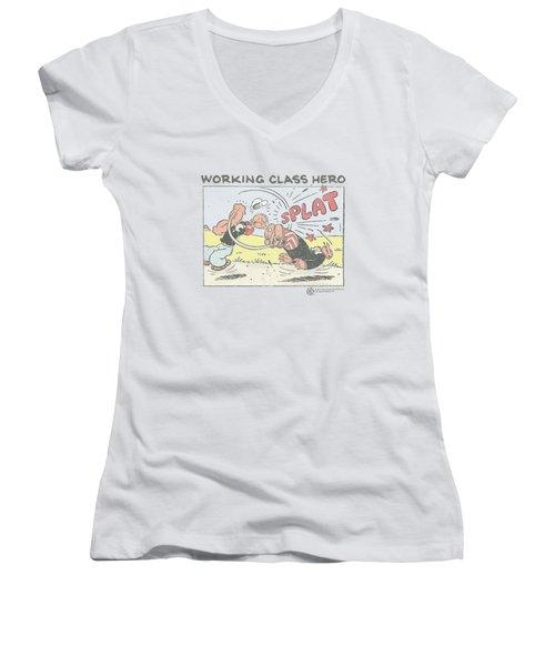 Popeye - Blue Bash Women's V-Neck T-Shirt